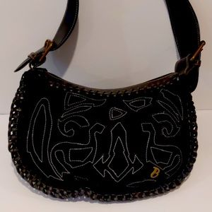 David Bitton Buffalo black shoulder bag
